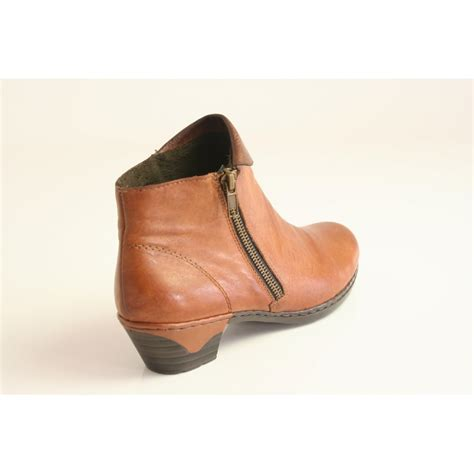 soft leather shoes for rieker rieker brown soft leather ankle boot with fur