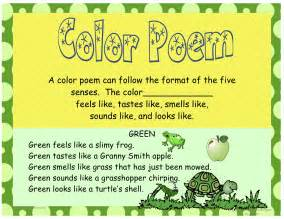 color poem exles poetry mrs warner s 4th grade classroom