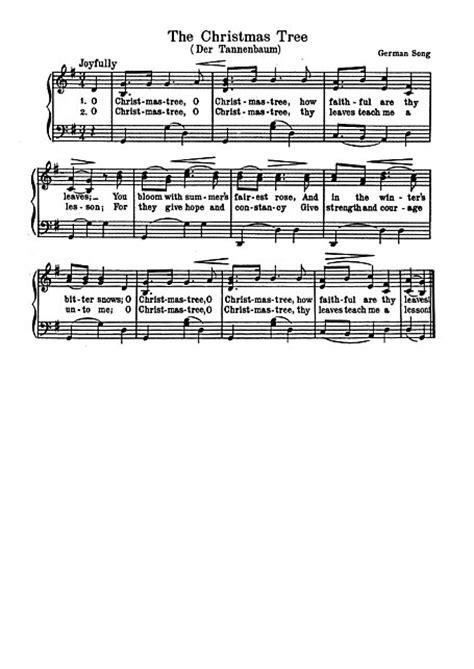 o christmas tree o tannenbaum piano voice sheet music
