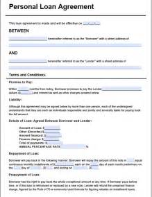 Auto Loan Agreement Template Free free loan agreement template3 pdf 2 page s