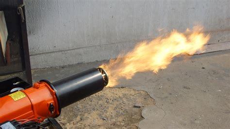 waste oil burner fire flame adjusting youtube