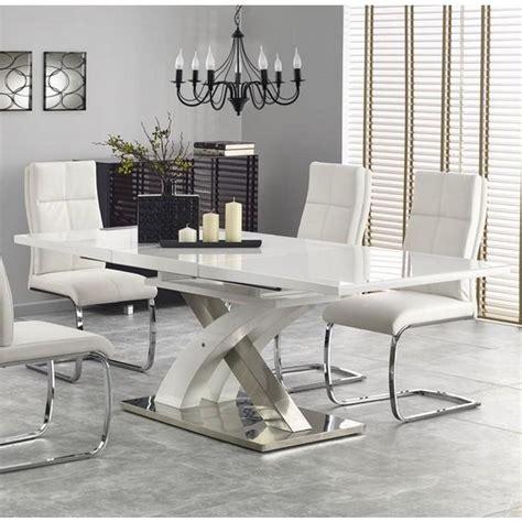 Table De Salle A Manger Design Avec Rallonge 895 by Table Salle A Manger Design Blanc Laqu 233 Extensible 220cm X