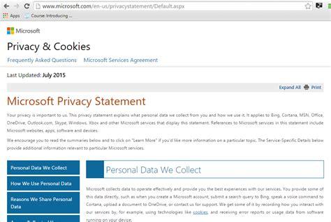 microsoft privacy statement privacymicrosoftcom microsoft privacy statement it s worth a read savagecurve