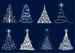 abstract christmas tree vector set free vector graphics