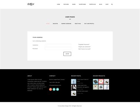 basic responsive html template dekor responsive interior html template by plazart