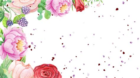 Watercolor Flowers And Falling Petals Motion Background Videoblocks Falling Flower Petals After Effects Template Free