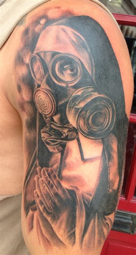 44 best gas mask tattoos collection