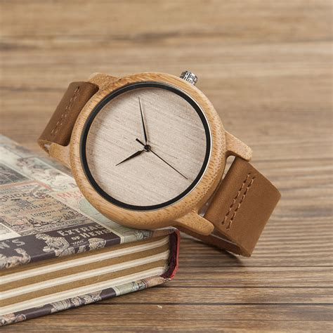 Jam Tangan Kayu Bewell Brown bobo bird jam tangan kayu analog pria a19 brown