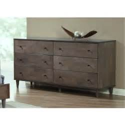 Bedroom Dresser Vilas Light Charcoal 6 Drawer Dresser 80004614