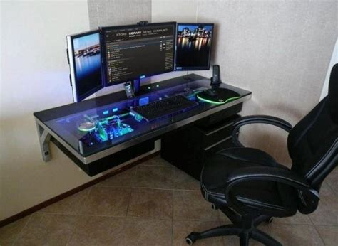 Computer Built Into Desk Computer Built Into The Desk Neat Mdp Ideas Pinterest