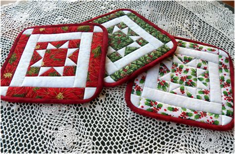 Free Quilted Potholder Pattern by Threads Wednesday Sewing More Quilted