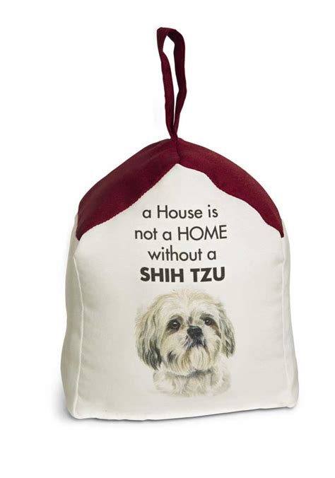shih tzu in house shih tzu door stopper 5 x 6 in 2 lbs a house is not a home