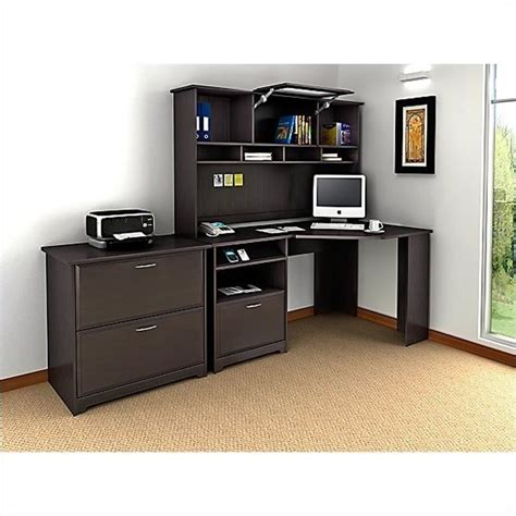 bush cabot corner computer desk in espresso oak wc31815 03