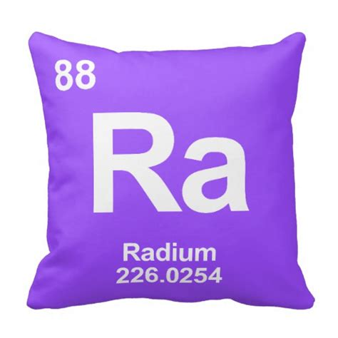 Ra Periodic Table by Ra Radium Periodic Table Element Pillows Zazzle