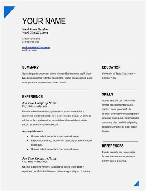 Easy Resume Template by Easy Resume Templates With Fill In The Blanks 28 Images