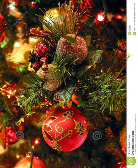 christmas tree ornaments stock photo image 364240