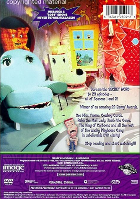 Seasons The Ring Of Volume 1 by Wee S Playhouse Volume 1 Dvd 1987 Dvd Empire