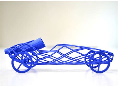 Super lightweight 3d printed balloon powered toy car video shapeways magazine