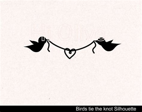 Wedding Knot Clipart by Tie The Knot Clip Wedding Silhouette Clip Birds Clip