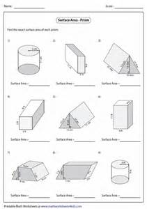 gallery for gt cylinder surface area worksheet