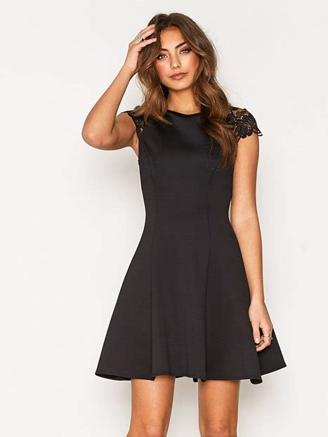 Nelly Dress 1 lace cap sleeve dress nly one black dresses clothing nelly