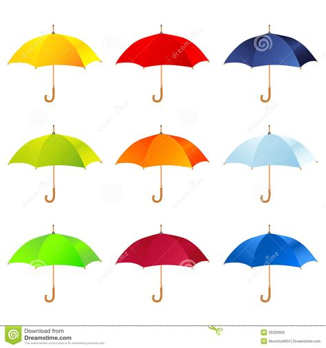 set umbrella set of umbrellas royalty free stock image image 35329956