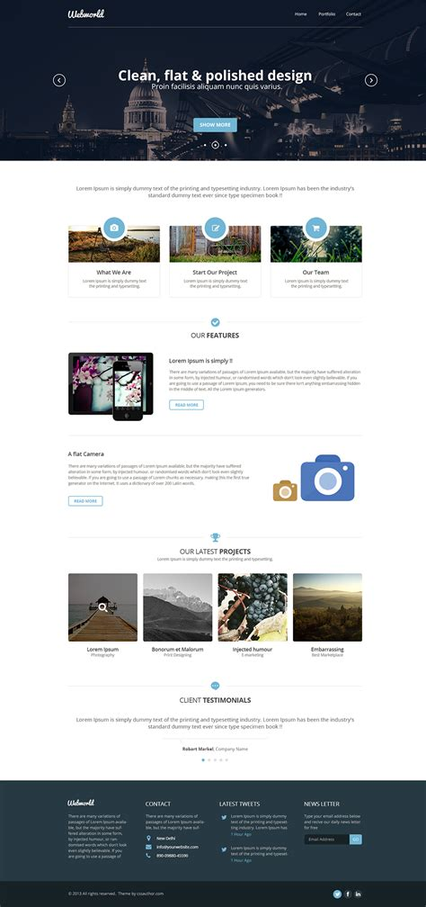 free homepage for website design professional free corporate web design template psd css