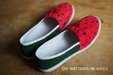 diy watermelon shoes diy sneakers for the