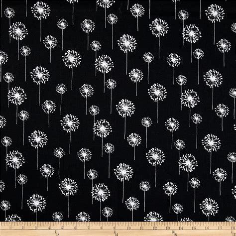 printable cotton fabric silhouette premier prints small dandelion black white discount
