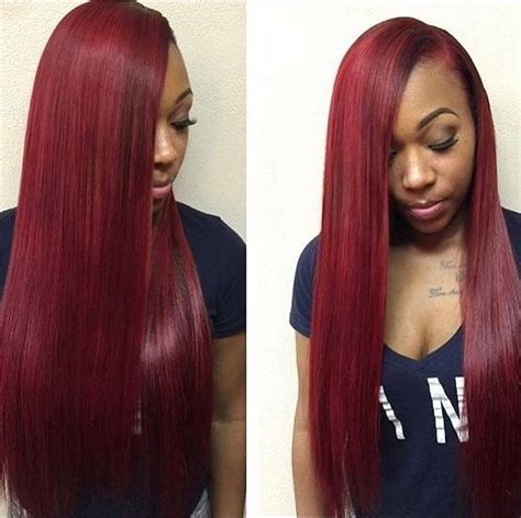 sew in bang straight hair styles red brazilian pinterest drvkestatus lhdc pinterest black hair
