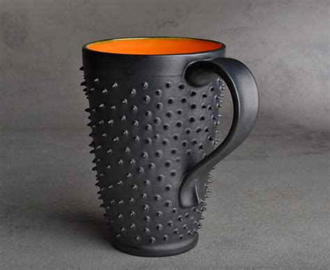 cool coffe mugs tall spiky coffee mug made to order dangerously spiky travel