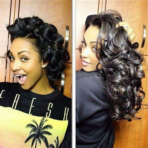how to pincurl short african american 193 best images about hairstyles ponytails updo s etc