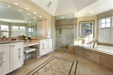 how big should a master bathroom be creating the perfect master bathroom dream kitchen and baths