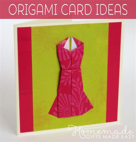 Origami Card Designs - origami card to make dress design with