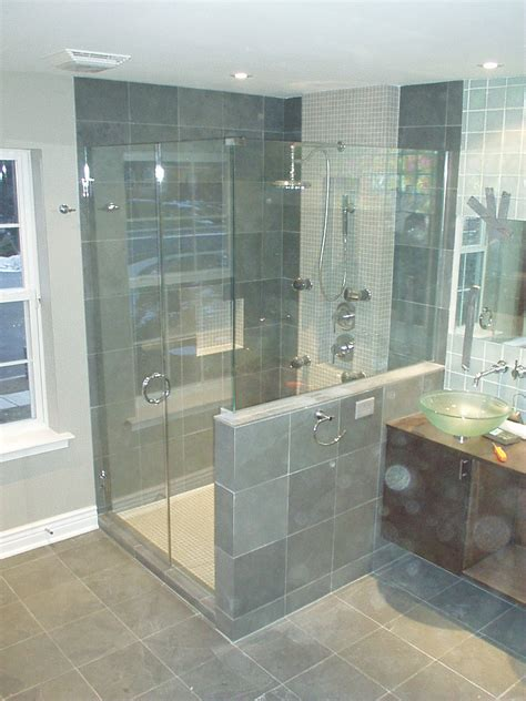 Bathroom Shower Tub Tile Ideas by Frameless Shower Doors Lewis Glass Company