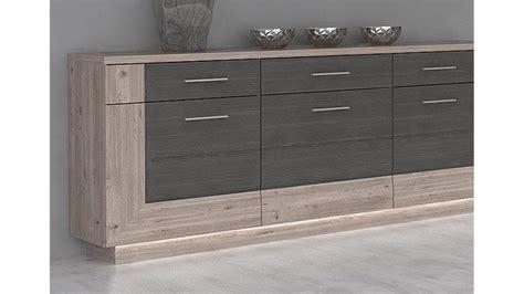 kommode und sideboard sideboard stairs kommode nelsoneiche und eiche grau inkl led