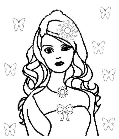 cute barbie coloring pages 74 best images about poh 225 dkov 233 postavy on pinterest
