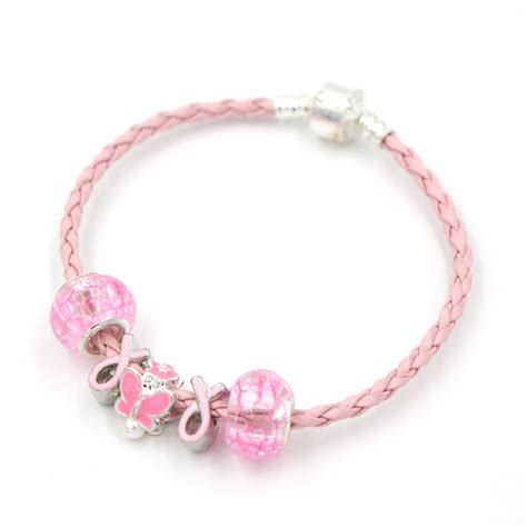 breast cancer bead bracelets free shipping newest breast cancer awareness jewelry