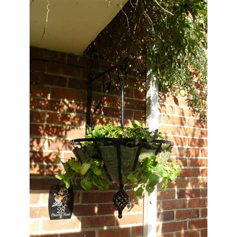 hanging basket  bracket wrought iron metal flower basket
