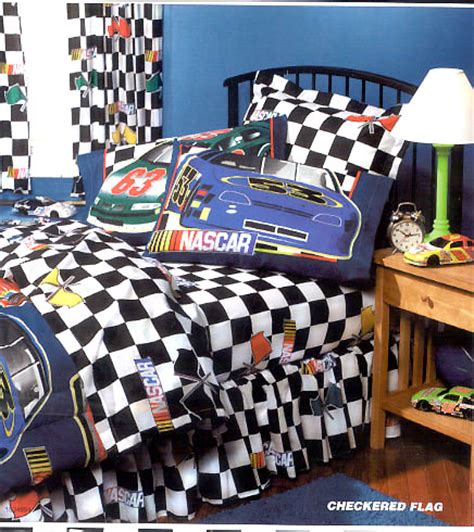 nascar bedding nascar checkered flag full sheet set