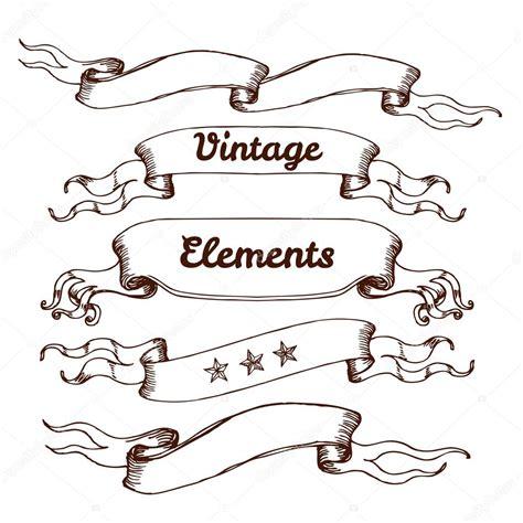 imagenes vintage vectorizadas elementos de design de estilo vintage fitas vetor de