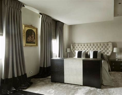 Black White Gray Curtains Decorating Bedroom Designs By Top Interior Designers Hoppen Master Bedroom Ideas