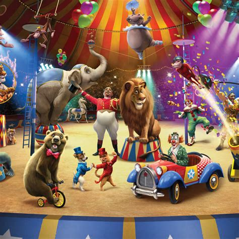 Mickey Mouse Wall Murals walltastic circus wallpaper mural 42674 at go wallpaper uk