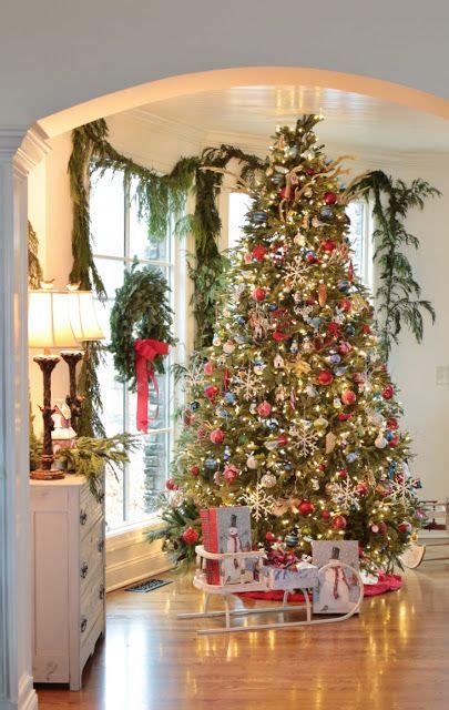 photo of the most beautifully decorated christmas tree stunning tree and beautifully decorated home rattlebridge farm home