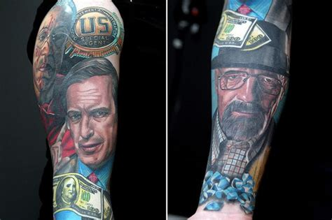 breaking bad tattoo meet james allan who has amazing