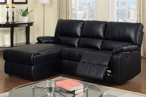 black sectional sofa with chaise black leather reclining sectional products homesfeed