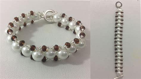 como hacer pulseras con perlas como hacer pulseras youtube