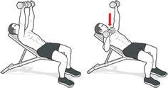 single arm incline db bench press fitness on pinterest fitness workouts men health and