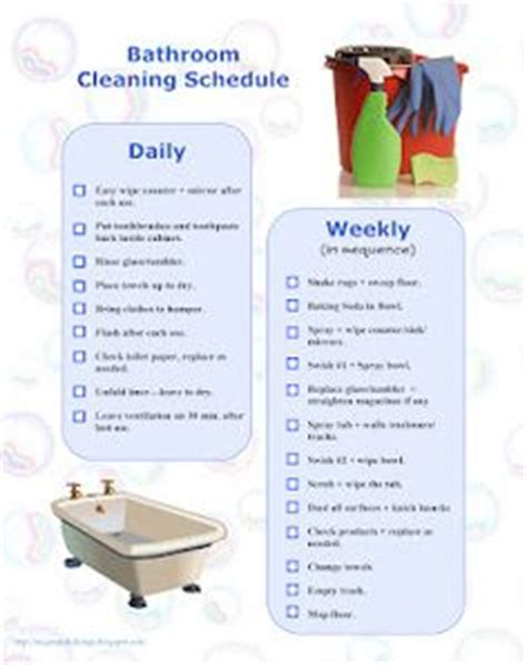 bathroom routine printables routine on pinterest flylady morning routines and