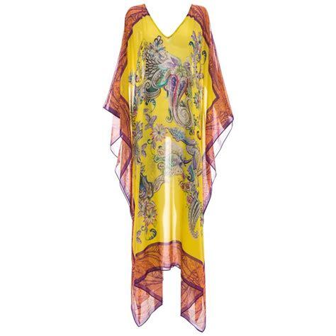 Kaftan Silk Motif Cc 1 etro silk chiffon paisley printed kaftan for sale at 1stdibs